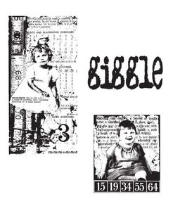 Tim Holtz Cling Rubber Stamps THE GIRLS CMS020*