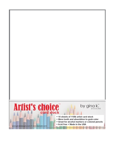 Gina K Designs ARTIST'S CHOICE 110 LB WHITE CARDSTOCK 8.5 x 11 Inches 47113 Preview Image
