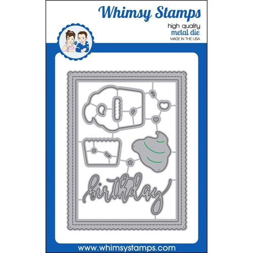 Whimsy Stamps SHAKER BUILDER SWEETEST BIRTHDAY Die Set wsd360n* Preview Image