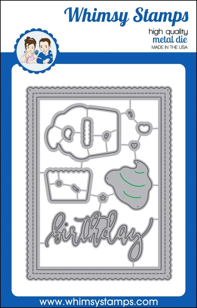Whimsy Stamps SHAKER BUILDER SWEETEST BIRTHDAY Die Set wsd360n* zoom image