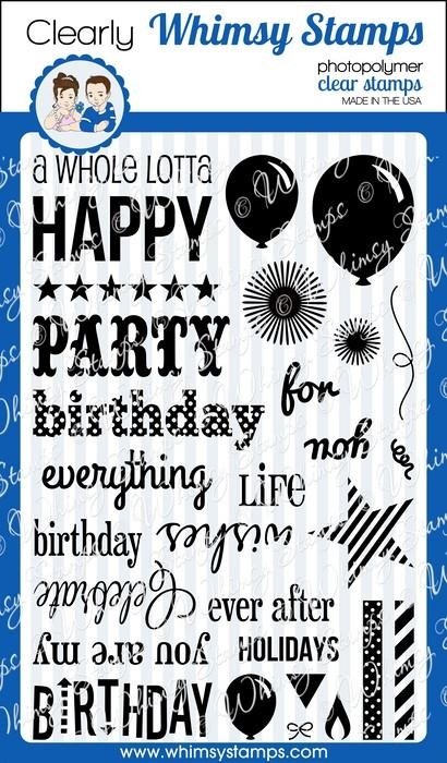 Whimsy Stamps HAPPY EVERYTHING Clear Stamps cwss115 zoom image
