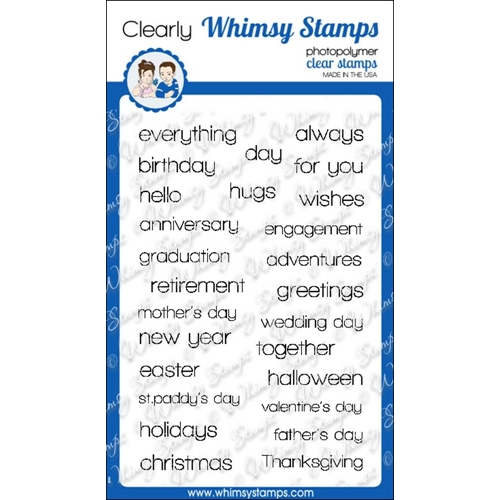 Whimsy Stamps HAPPY SAYINGS Clear Stamps cwsd191 Preview Image