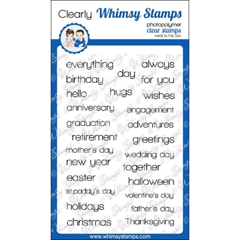Whimsy Stamps HAPPY SAYINGS Clear Stamps cwsd191