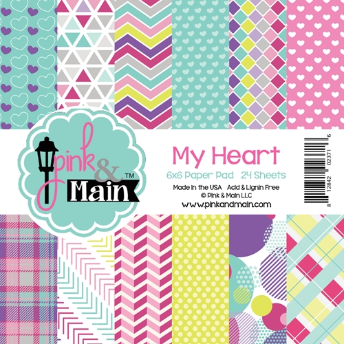 Pink and Main 6X6 MY HEART Paper Pad PMP013 Preview Image