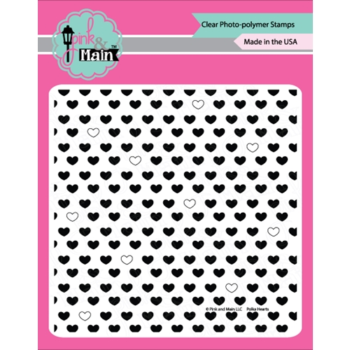 Pink and Main POLKA HEARTS Clear Stamp Set PM0256* Preview Image