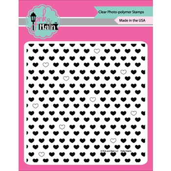 Pink and Main POLKA HEARTS Clear Stamp Set PM0256*
