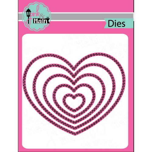 Pink and Main DOUBLE STITCHED HEART Die Set PNM131 Preview Image