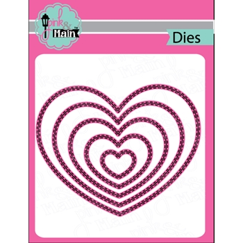Pink and Main DOUBLE STITCHED HEART Die Set PNM131