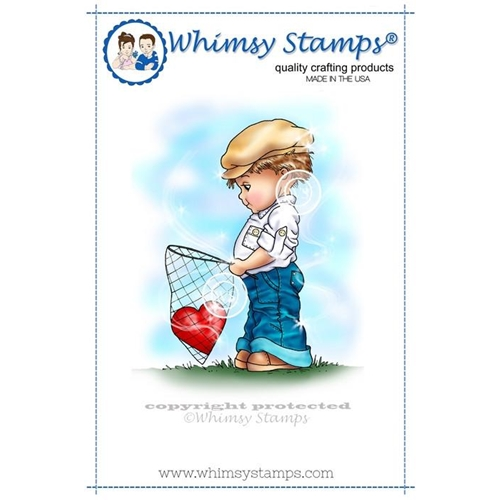 Whimsy Stamps YOU'VE CAPTURED MY HEART Rubber Cling Stamp c1205 Preview Image