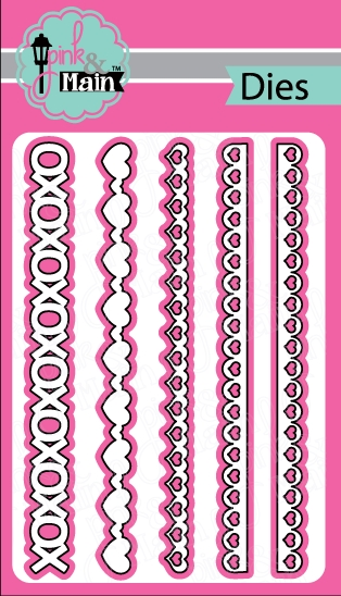 Pink and Main HEART BORDERS Die Set PNM132 zoom image