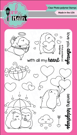 Pink and Main HEDGEHUGS Clear Stamp Set PM0254* zoom image