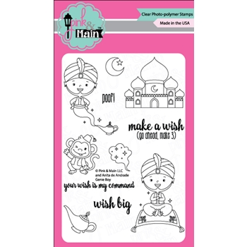 Pink and Main GENIE BOY Clear Stamp Set PM0253*