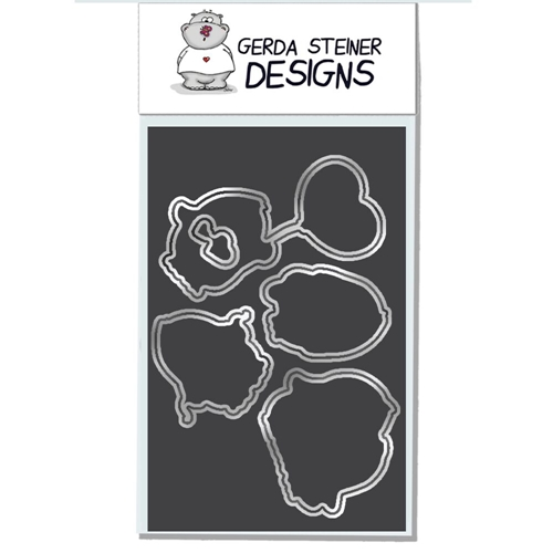 Gerda Steiner Designs VALENTINE PENGUINS Die Set gsd624die Preview Image