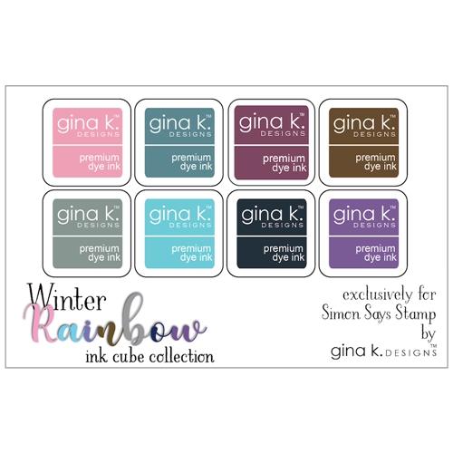 Gina K Designs WINTER RAINBOW Premium Dye Ink Cube Collection 5744 Preview Image