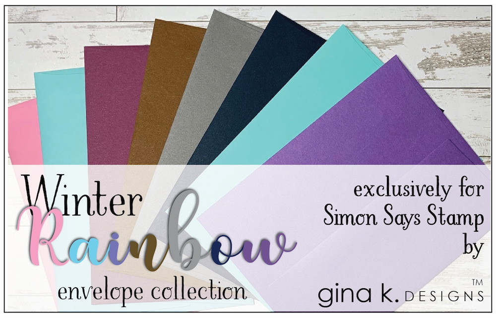 Gina K Designs WINTER RAINBOW 24 Pack A2 Envelope Collection 5720 zoom image