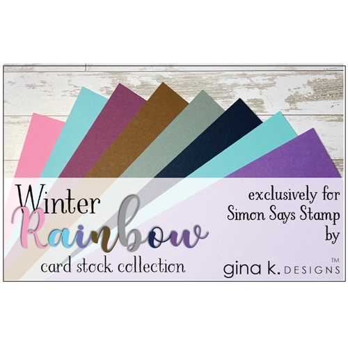 Gina K Designs WINTER RAINBOW 24 Pack 8.5 x 11 Inch Cardstock 5737 Preview Image