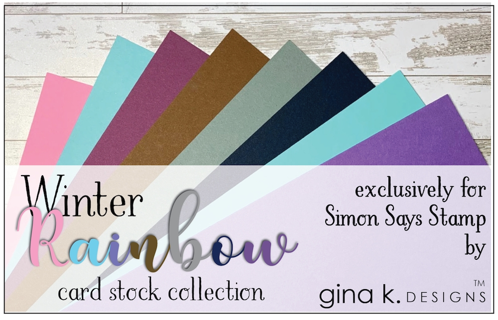 Gina K Designs WINTER RAINBOW 24 Pack 8.5 x 11 Inch Cardstock 5737 zoom image