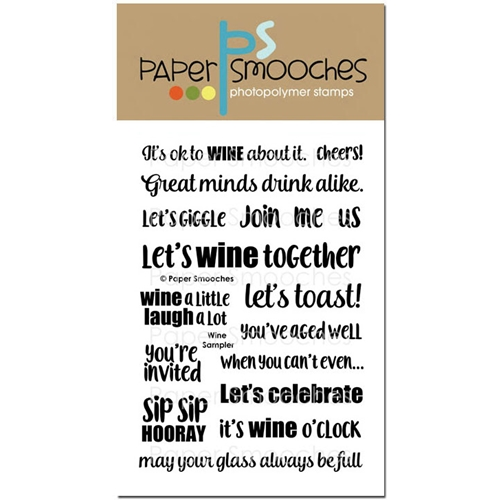 Paper Smooches WINE SAMPLER Clear Stamps DES300 Preview Image