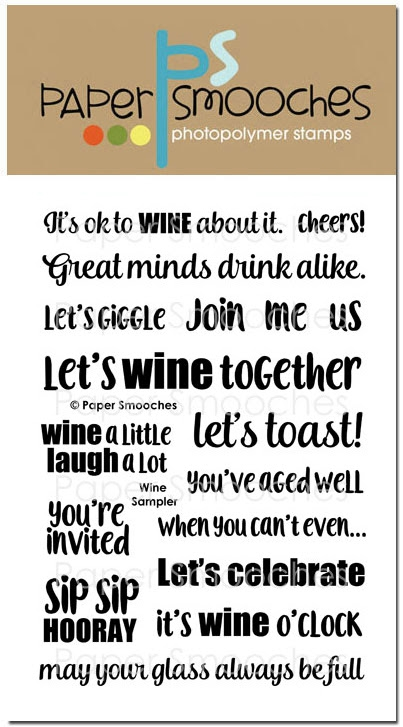 Paper Smooches WINE SAMPLER Clear Stamps DES300 zoom image