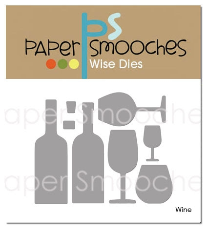 Paper Smooches WINE Wise Dies DED421 Preview Image