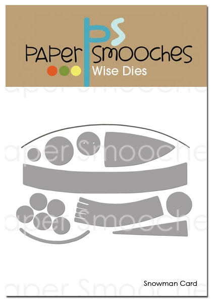 Paper Smooches SNOWMAN CARD Wise Dies DED420 zoom image