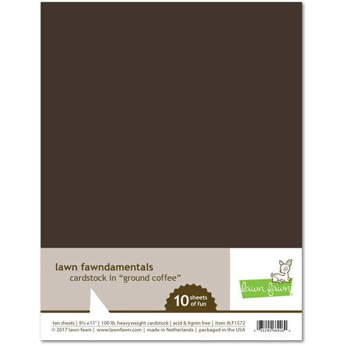 Lawn Fawn GROUND COFFEE Cardstock LF1572 Preview Image