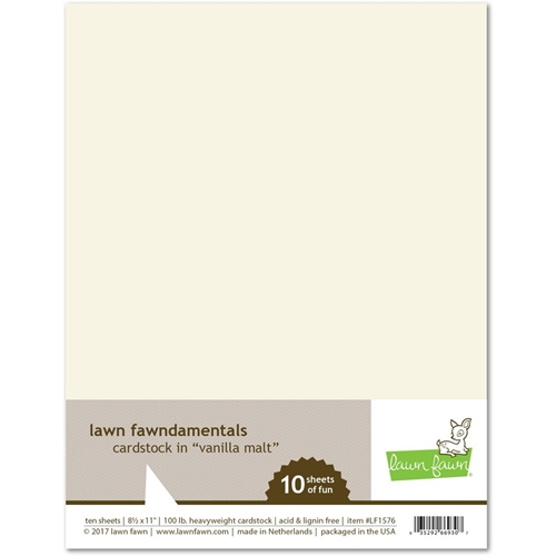 Lawn Fawn VANILLA MALT Cardstock LF1576 Preview Image
