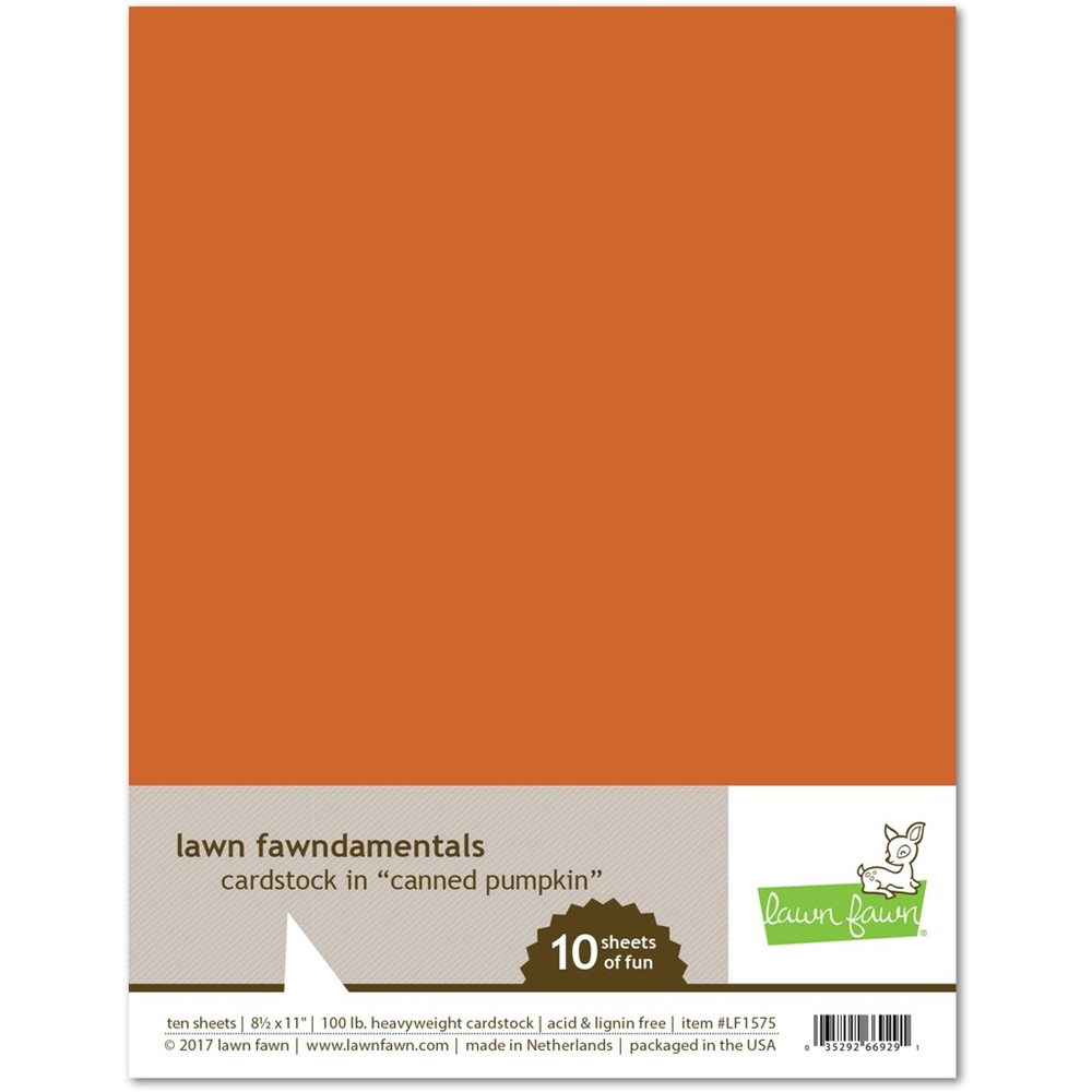 Lawn Fawn CANNED PUMPKIN Cardstock LF1575 zoom image