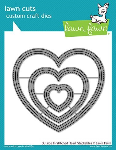 Lawn Fawn OUTSIDE IN STITCHED HEART STACKABLES Lawn Cuts LF1563 Preview Image