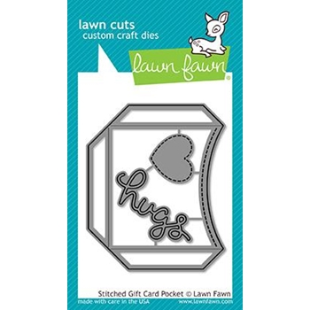 Lawn Fawn STITCHED GIFT CARD POCKET Lawn Cuts LF1558