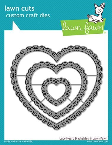 Lawn Fawn LACY HEART STACKABLES Lawn Cuts LF1562 zoom image