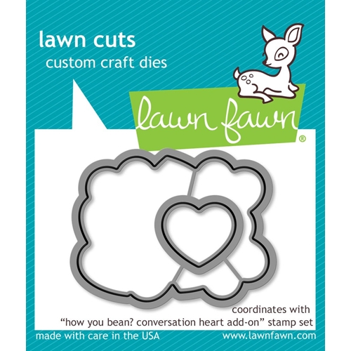 Lawn Fawn HOW YOU BEAN CONVERSATION HEART ADD-ON Lawn Cuts LF1554 Preview Image