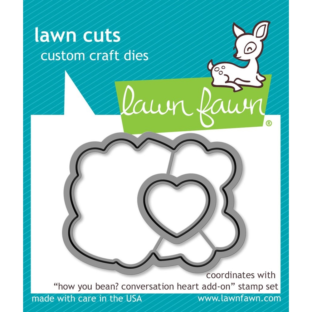 Lawn Fawn HOW YOU BEAN CONVERSATION HEART ADD-ON Lawn Cuts LF1554 zoom image