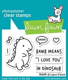 Lawn Fawn RAWR Clear Stamps LF1555 zoom image