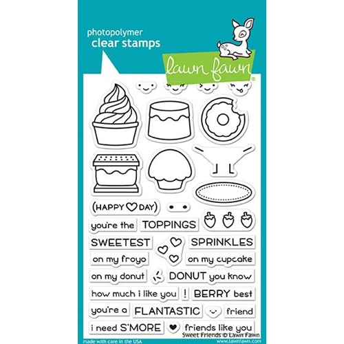 Lawn Fawn SWEET FRIENDS Clear Stamps LF1551 Preview Image