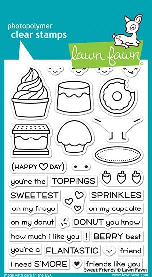 Lawn Fawn SWEET FRIENDS Clear Stamps LF1551 zoom image