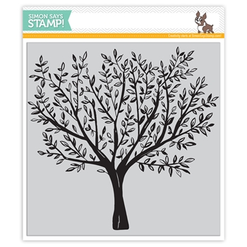 Simon Says Cling Rubber Stamp BRUSHED BRANCHES Background sss101792 Friends