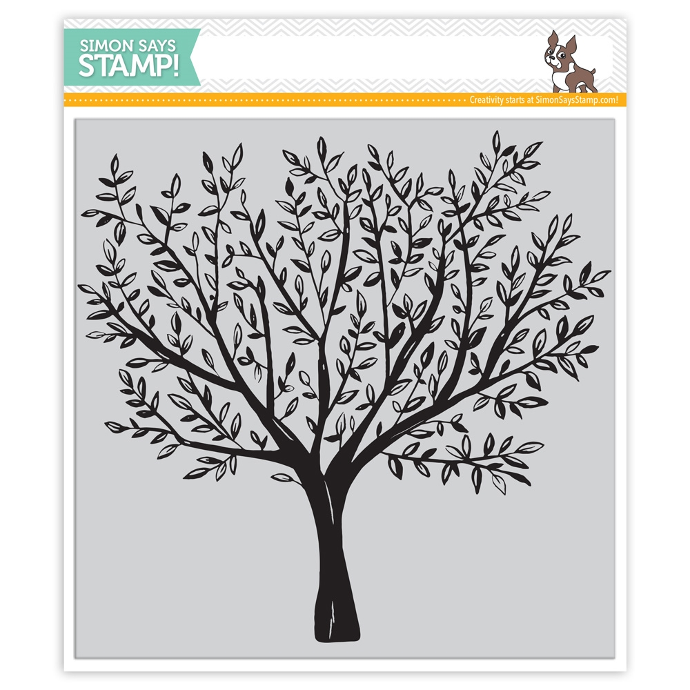 Simon Says Cling Rubber Stamp BRUSHED BRANCHES Background sss101792 Friends zoom image