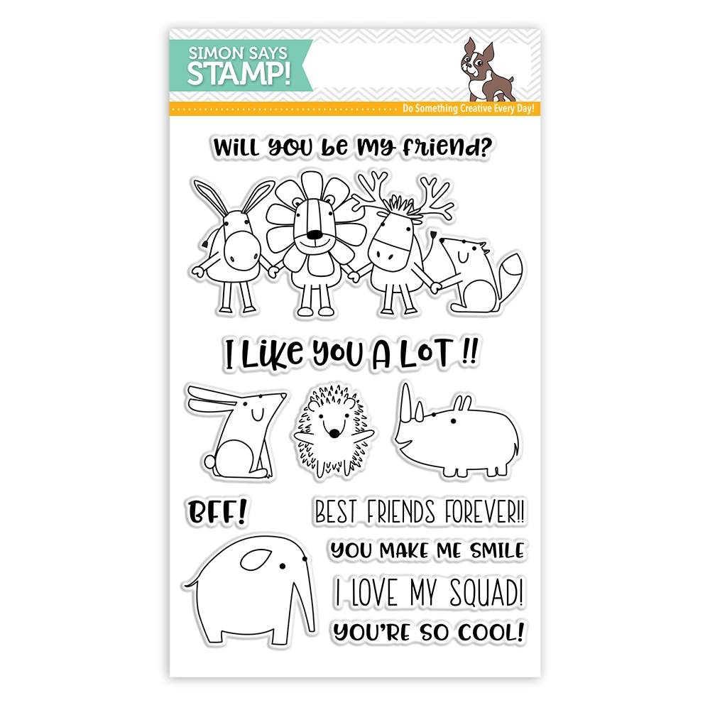 Simon Says Clear Stamps BEST FRIENDS sss101799 Friends zoom image