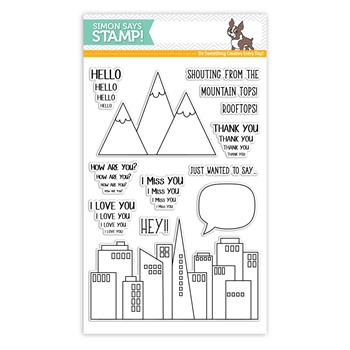 Simon Says Clear Stamps FROM THE ROOFTOPS  sss101800 Friends *