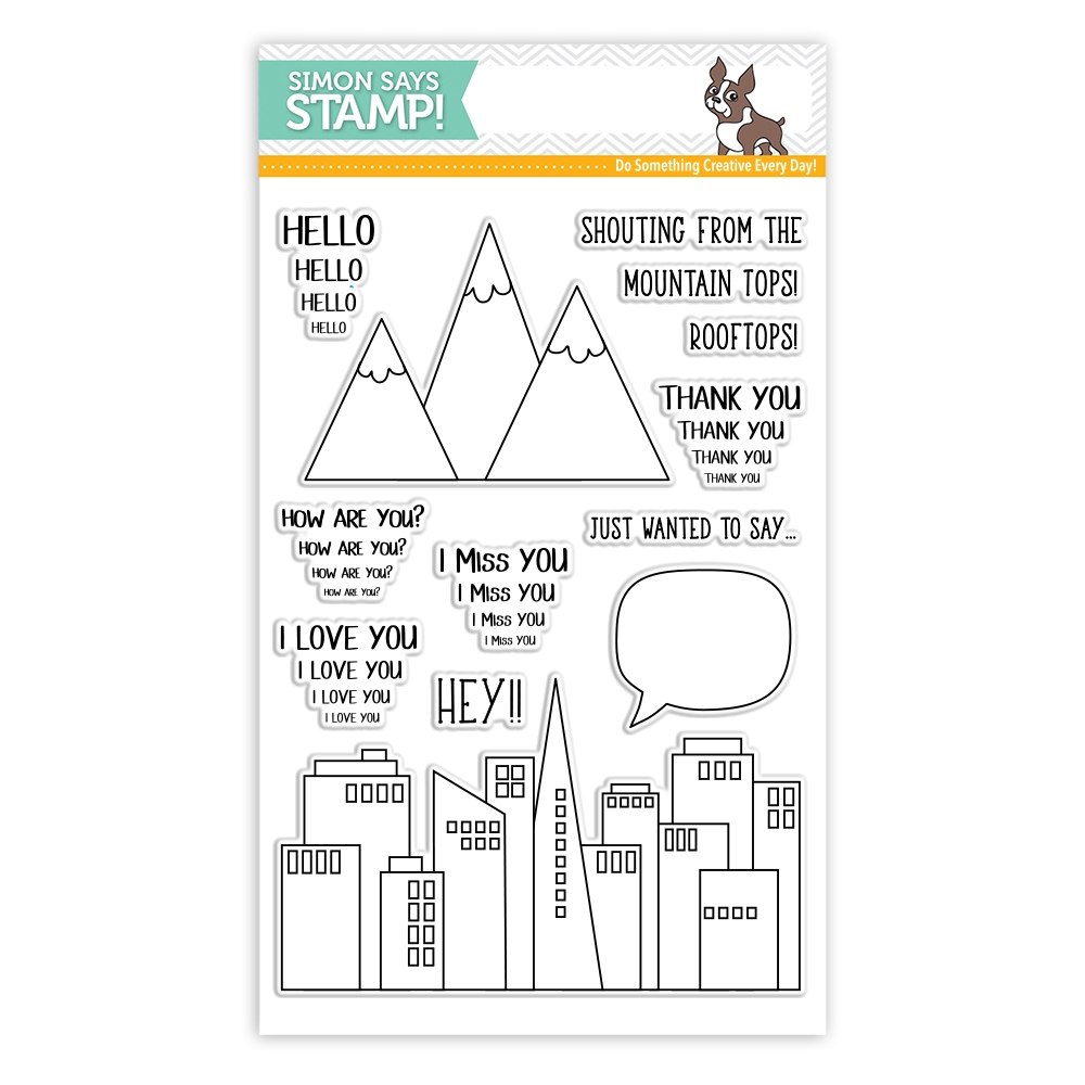 Simon Says Clear Stamps FROM THE ROOFTOPS  sss101800 Friends * zoom image