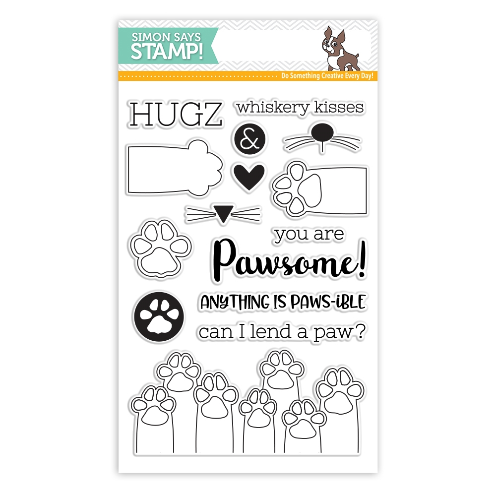 Simon Says Clear Stamps PAWS-ITIVITY sss101801 Friends * zoom image