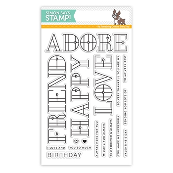 Simon Says Clear Stamps STAINED GLASS LOVE sss101803 Friends