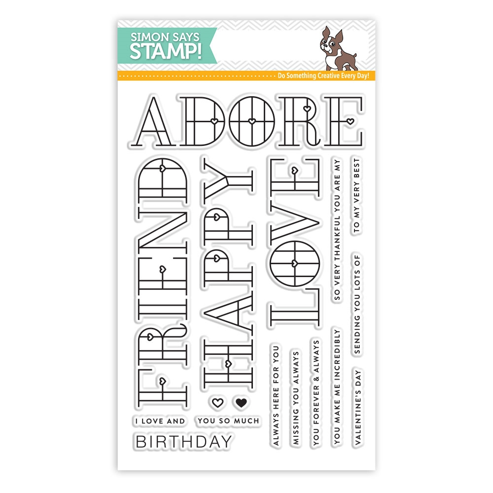 Simon Says Clear Stamps STAINED GLASS LOVE sss101803 Friends zoom image