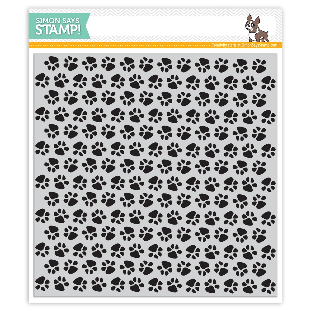 Simon Says Cling Rubber Stamp PAWS Background sss101808 Friends zoom image
