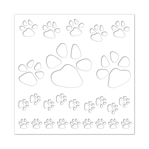 Simon Says Stamp Stencil PAWS BACKGROUND ssst121409 Friends Preview Image