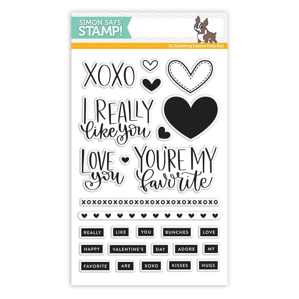 Simon Says Clear Stamps REALLY LIKE YOU sss101714 * zoom image