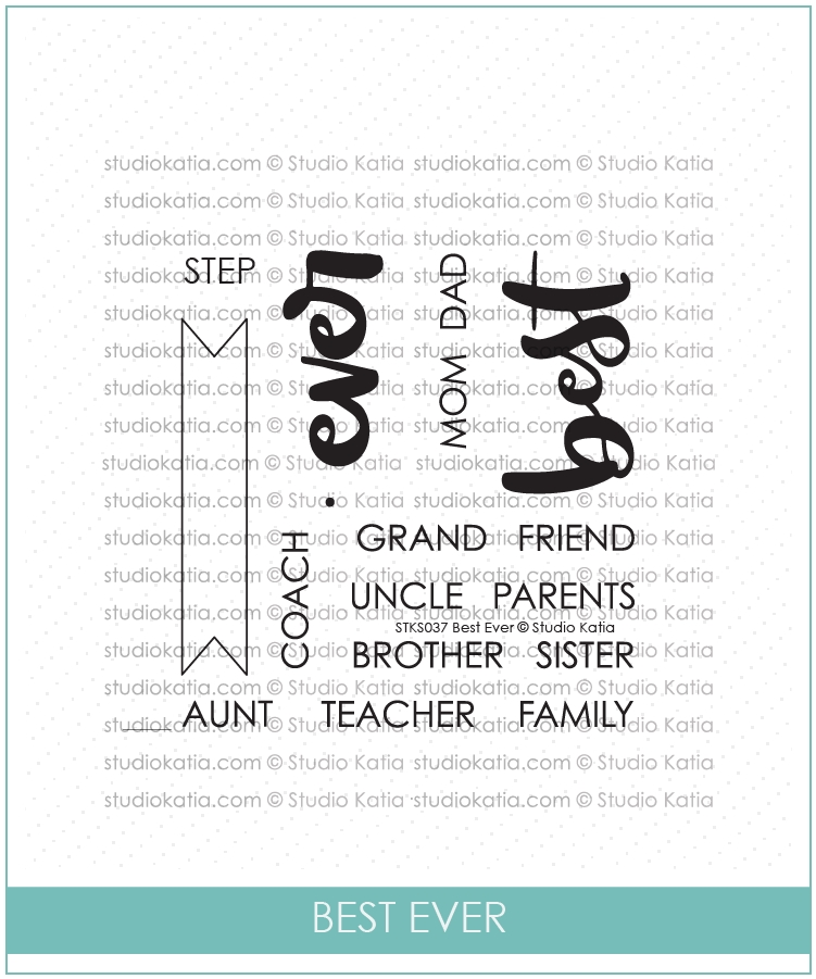 Studio Katia BEST EVER Clear Stamps stks037 zoom image