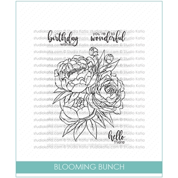 Studio Katia BLOOMING BUNCH Clear Stamps stks033