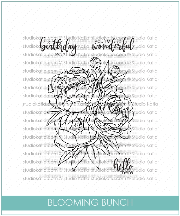 Studio Katia BLOOMING BUNCH Clear Stamps stks033 zoom image